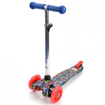 Scooter trojko?owa with wheels Led Meteor Tucan Dinosaurs 22556