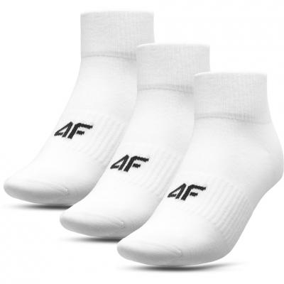 Set 3 perechi sosete albe 4F adulti
