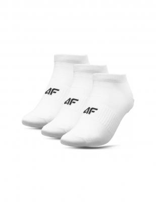 Set 3 perechi sosete albe 4F unisex