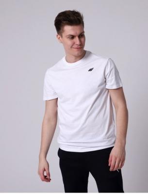 Tricou clasic alb 4F bumbac barbati