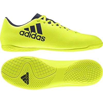 Adidasi fotbal indoor adidas X 17.4 IN S82407 barbati galben fosforescent