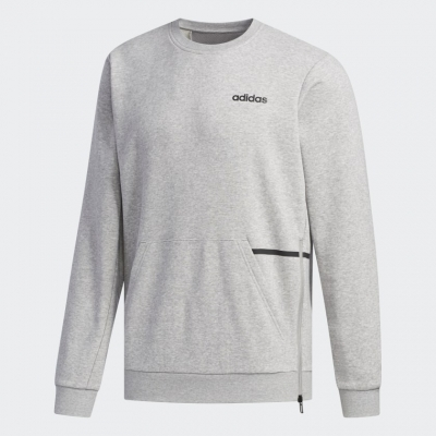 Bluza sport gri maneca lunga adidas Crew barbati
