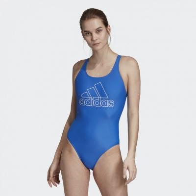 Costum de baie intreg adidas DY5901 albastru femei