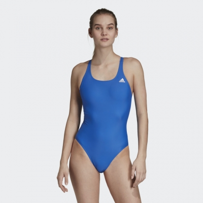 Costum de baie intreg albastru adidas Athly V Solid DY5903 femei