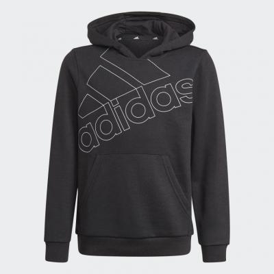 Hanorac gluga negru adidas Essentials Logo copii