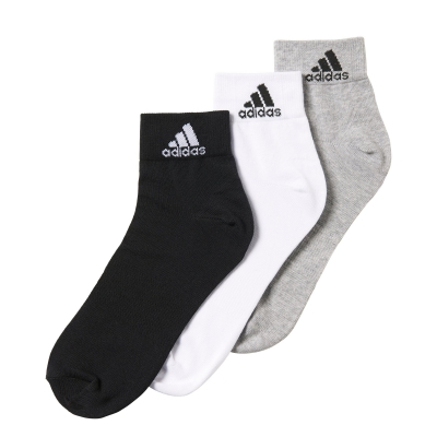 Set 3 perechi sosete adidas Performance subtiri pana la glezna unisex adulti alb gri negru
