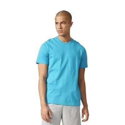 Tricou bumbac bleu adidas Performance Essentials Base Tee barbati