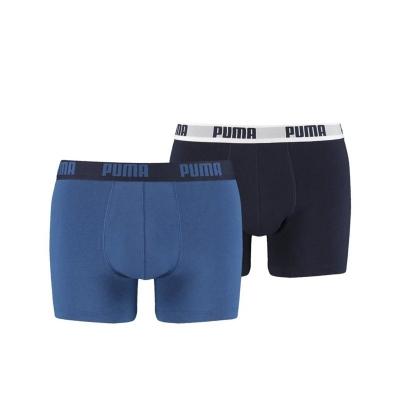 Set 2 perechi boxeri Puma Basic barbati negru albastru