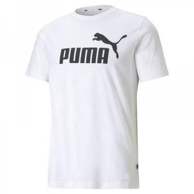 Tricou alb bumbac Puma Essentials 586666-02 barbati