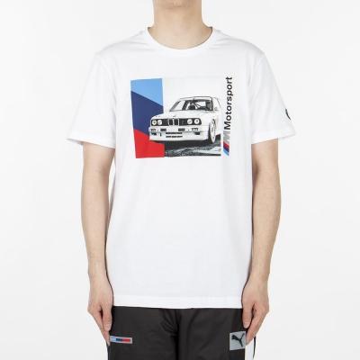 Tricou alb Puma BMW MMS imprimeu Graphic 596102-02 barbati