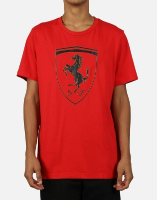 Tricou rosu Scuderia Ferrari Big Shield 595554-01 barbati