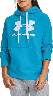 Hanorac albastru gluga Under Armour Rival Fleece Logo 1356318-419 femei