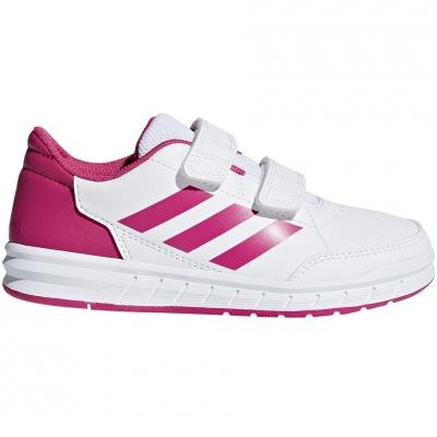 Pantof 's adidas AltaSport CF K white pink D96828 copil