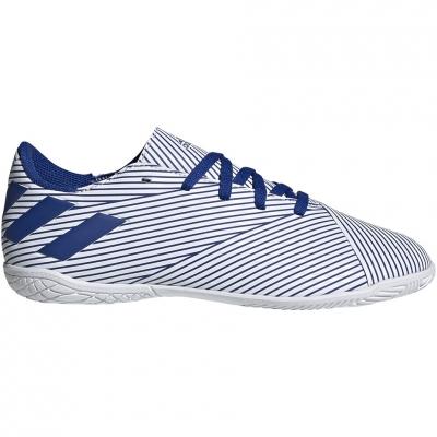 Pantof Minge Fotbal Adidas Nemeziz 19.4 IN JR white and blue EF1754