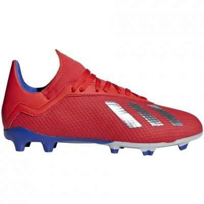 Pantof Minge Fotbal adidas X 18.3 FG JR red BB9371