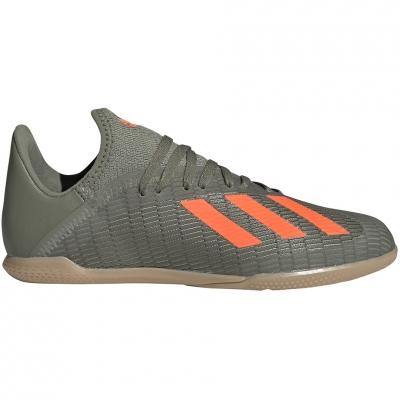 Pantof Minge Fotbal Adidas X 19.3 IN green EF8376 copil