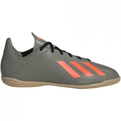 Pantof Minge Fotbal Adidas X 19.4 IN green EF8379 copil