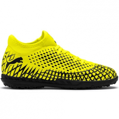 Pantof Minge Fotbal Puma Future 4.4 TT yellow-black 105699 03 copil