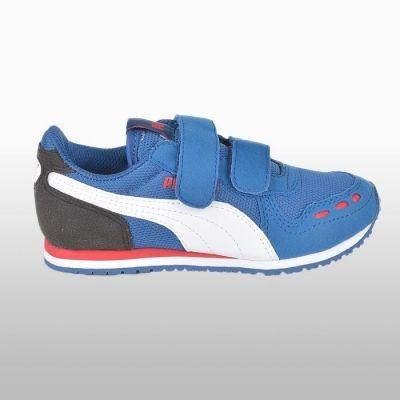 Adidasi sport Puma Cabana Racer Mesh albastru Baietei