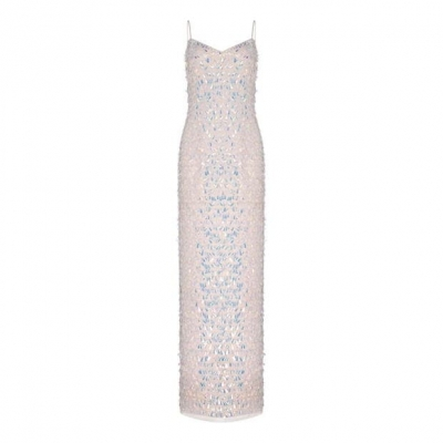 Adrianna Papell Beaded Slim Gown