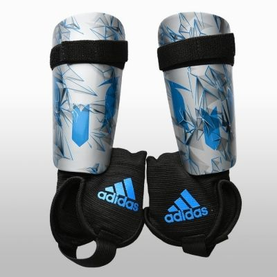 Aparatori de fotbal Adidas Messi 10 Youth Unisex copii shades of gri and argintiu