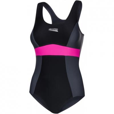 Aqua-Speed Sylwia 's bathing suit black-gray-pink col. 133 dama