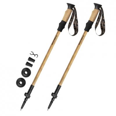 Nordic Walking poles Spokey Bastone Eco brown and black 929465
