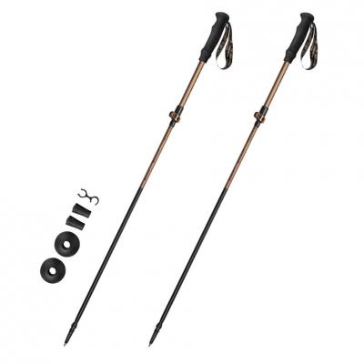 Spokey Quick trekking poles brown-black 929473