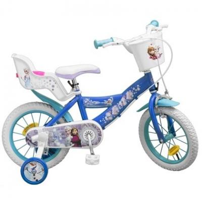 Bicicleta Copii - Fete, Disney Frozen, 16 Inch, 5-8 Ani, Toimsa