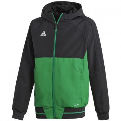 Bluza trening adidas TIRO 17 JR black-green BQ2788 adidas teamwear