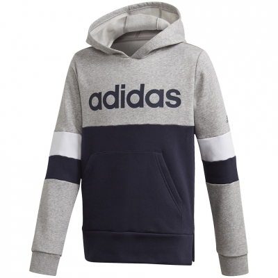 Bluza trening Bluza Adidas Linear Colorbock Hooded gray-navy for GD6323 copil