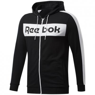 Bluza trening Hanorac Reebok Men's Te Linear Logo Fz black FU3131