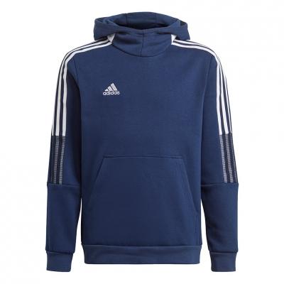 Bluza trening Hanorac for adidas Tiro 21 Sweat navy blue GK9680 copil adidas teamwear