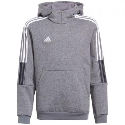 Bluza trening Hanorac for adidas Tiro 21 Sweat gray GP8803 copil adidas teamwear