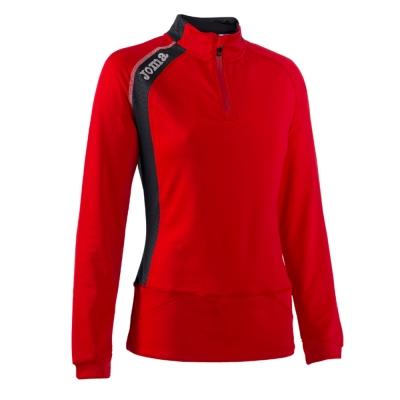 Bluza trening 1/2 Zipper Elite V Red Joma