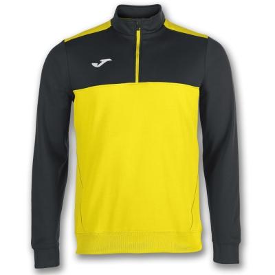 Bluza trening 1/2 Zipper Winner Yellow-black Joma