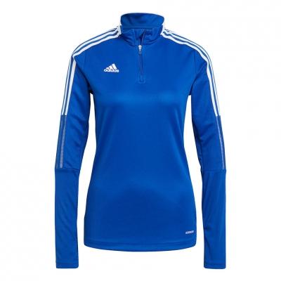 Bluza trening for adidas Tiro 21 Training Top blue GM7316 dama adidas teamwear