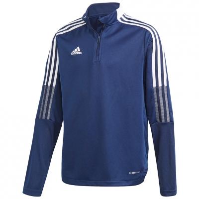 Bluza trening Adidas Tiro 21 Training Top Youth for navy blue GK9661 copil adidas teamwear