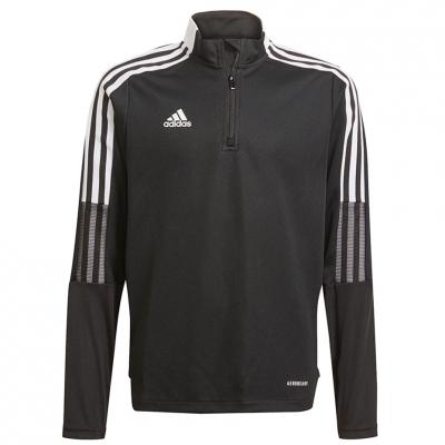 Bluza trening for adidas Tiro 21 Training Top Youth black GM7325 copil adidas teamwear