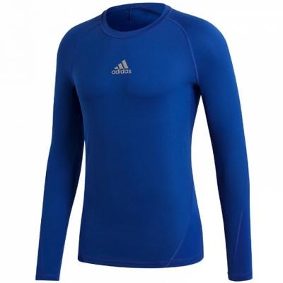 Tricou Adidas Alphaskin Sport LS blue CW7323 copil adidas teamwear