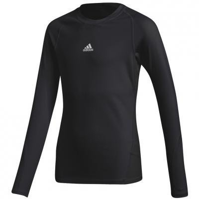 Tricou Adidas Alphaskin Sport LS black CW7324 copil adidas teamwear