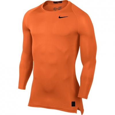 Camasa T- Nike Pro Cool Compression LS Top orange 703088 815