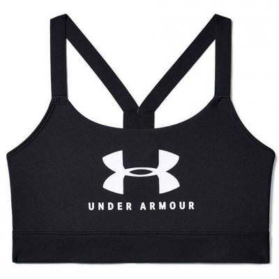 Under Armor Mid Sportstyle Graphic black sports bra UAR 1351998 001 Under Armour