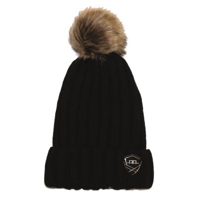 AA Platinum Wool Pom Pom Hat dama