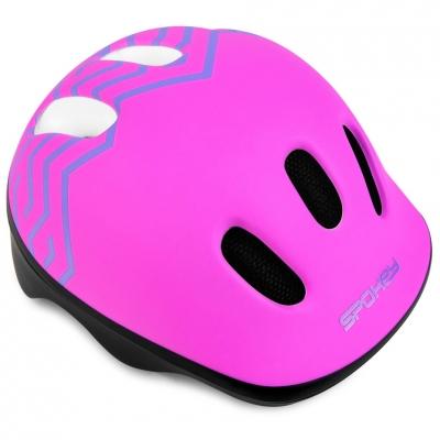 Casca 's bike Spokey Strapy 1 44 to 48 cm pink 927773 copil