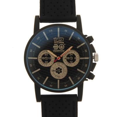 Crosshatch Chequered Rubber Strap Watch barbat