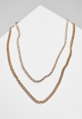 Double Layer Diamond Necklace Urban Classics