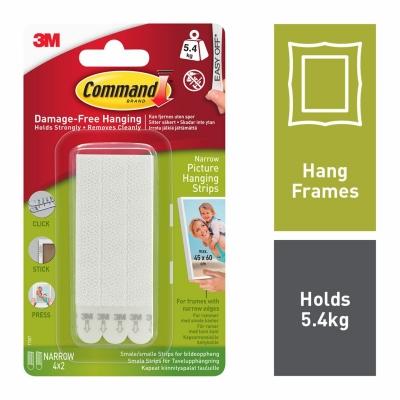 Command Narrow Damage Free Hanging Strips