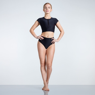 Slazenger Zip Maneca Scurta Bikini dama