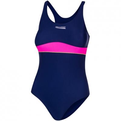 Costum inot Aqua-Speed Emily for navy blue-pink col. 47 copil